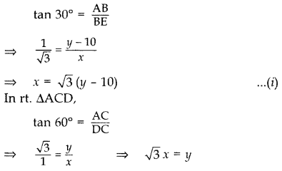 Important Questions for Class 10 Maths Chapter 9 Some Applications of Trigonometry 26