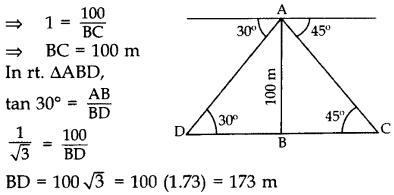 Important Questions for Class 10 Maths Chapter 9 Some Applications of Trigonometry 27
