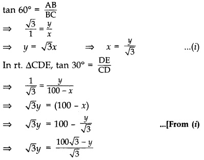 Important Questions for Class 10 Maths Chapter 9 Some Applications of Trigonometry 29