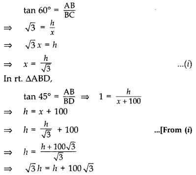Important Questions for Class 10 Maths Chapter 9 Some Applications of Trigonometry 32