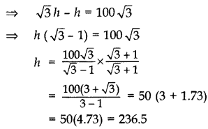Important Questions for Class 10 Maths Chapter 9 Some Applications of Trigonometry 33