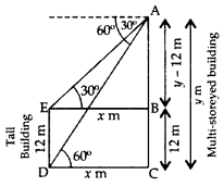 Important Questions for Class 10 Maths Chapter 9 Some Applications of Trigonometry 34