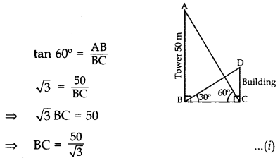 Important Questions for Class 10 Maths Chapter 9 Some Applications of Trigonometry 35