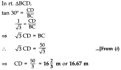 Important Questions for Class 10 Maths Chapter 9 Some Applications of Trigonometry 36