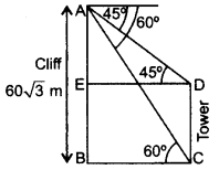 Important Questions for Class 10 Maths Chapter 9 Some Applications of Trigonometry 43