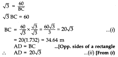 Important Questions for Class 10 Maths Chapter 9 Some Applications of Trigonometry 46