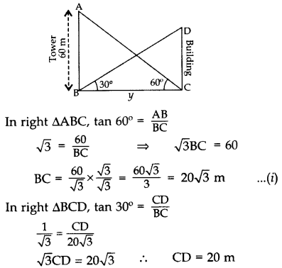Important Questions for Class 10 Maths Chapter 9 Some Applications of Trigonometry 48