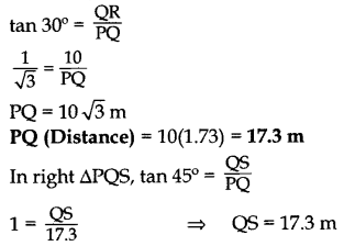 Important Questions for Class 10 Maths Chapter 9 Some Applications of Trigonometry 50