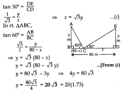 Important Questions for Class 10 Maths Chapter 9 Some Applications of Trigonometry 51