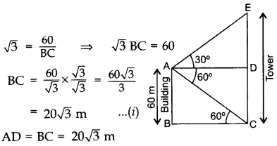 Important Questions for Class 10 Maths Chapter 9 Some Applications of Trigonometry 52