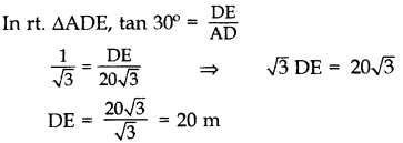 Important Questions for Class 10 Maths Chapter 9 Some Applications of Trigonometry 53