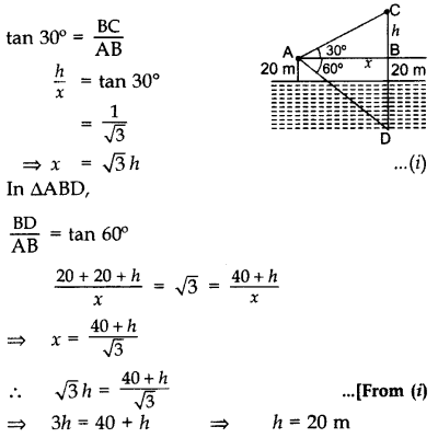 Important Questions for Class 10 Maths Chapter 9 Some Applications of Trigonometry 57