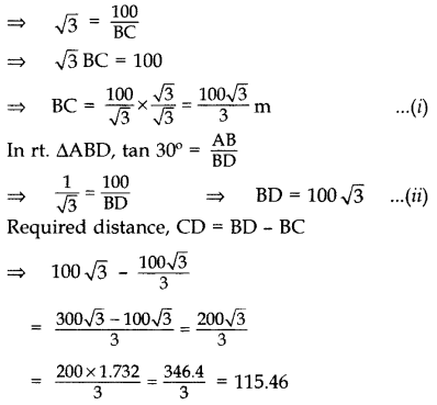 Important Questions for Class 10 Maths Chapter 9 Some Applications of Trigonometry 65