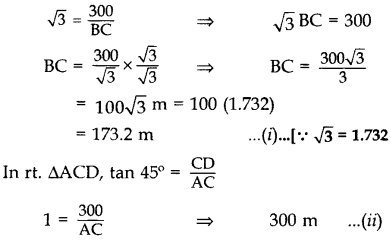 Important Questions for Class 10 Maths Chapter 9 Some Applications of Trigonometry 67
