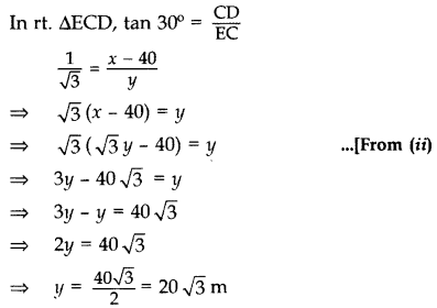 Important Questions for Class 10 Maths Chapter 9 Some Applications of Trigonometry 69