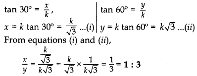 Important Questions for Class 10 Maths Chapter 9 Some Applications of Trigonometry 8