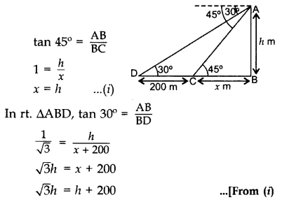 Important Questions for Class 10 Maths Chapter 9 Some Applications of Trigonometry 9