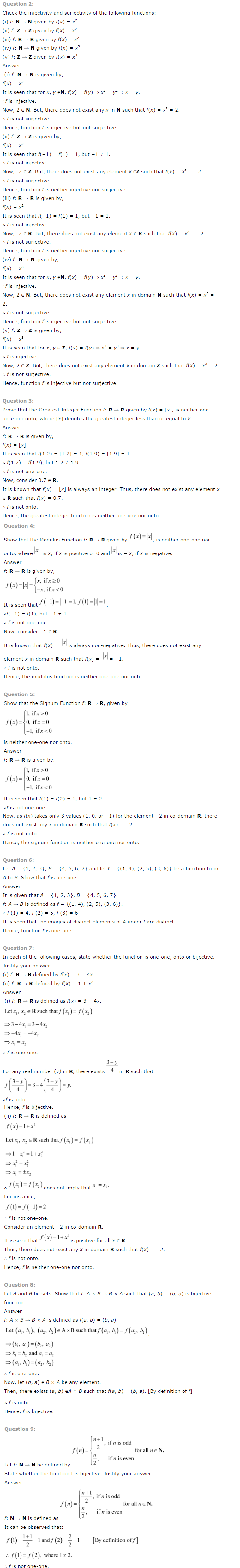 NCERT Solutions For Class 12 Maths Chapter 1 Relations and Functions 4