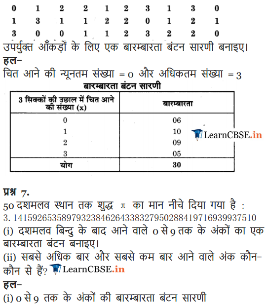 NCERT Solutions for Class 9 Maths Chapter 14 Statistics Exercise 14.2 in Hindi