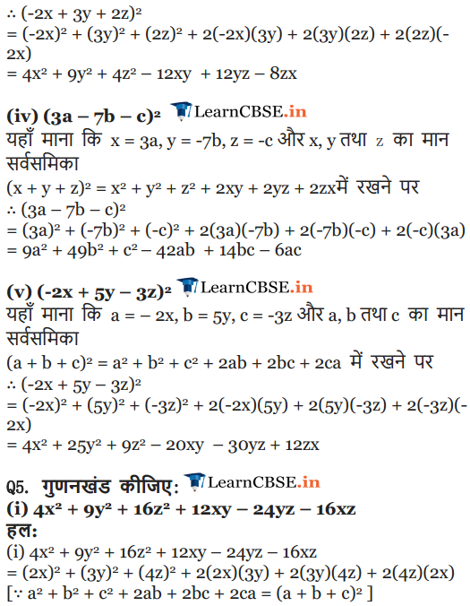 NCERT Solutions for class 9 Maths chapter 2 exercise 2.5 Polynomials English medium