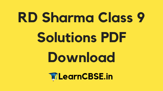 RD Sharma Class 9 Solutions