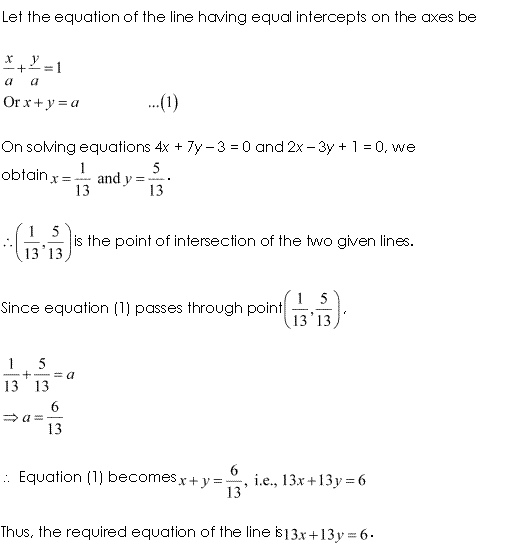 Class 11 Maths NCERT Solutions Chapter 10 Straight Lines Miscellaneous Exercise A12.1
