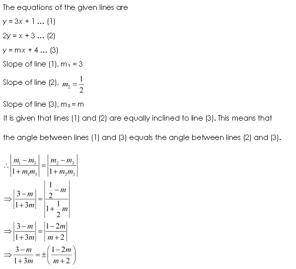 Class 11 Maths NCERT Solutions Chapter 10 Straight Lines Miscellaneous Exercise A19.1
