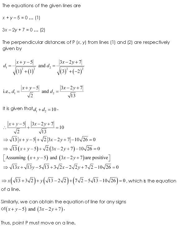 Class 11 Maths NCERT Solutions Chapter 10 Straight Lines Miscellaneous Exercise A20.1