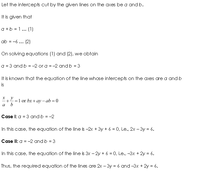 Class 11 Maths NCERT Solutions Chapter 10 Straight Lines Miscellaneous Exercise A3.1