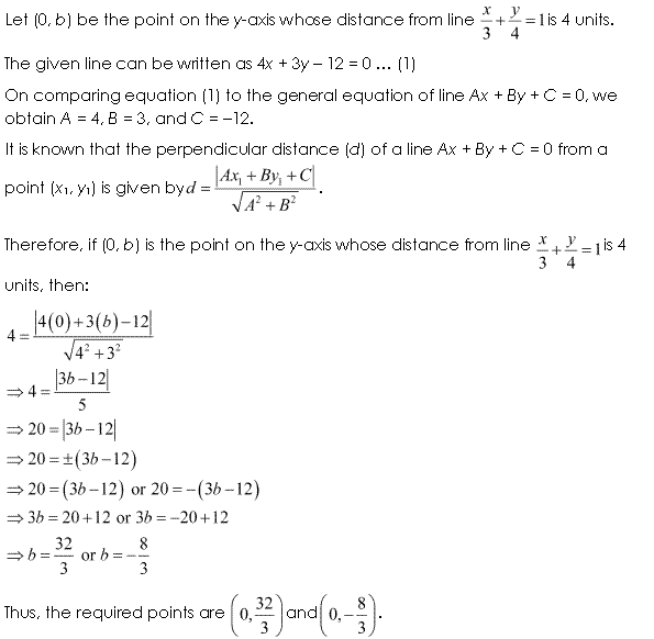 Class 11 Maths NCERT Solutions Chapter 10 Straight Lines Miscellaneous Exercise A4.1