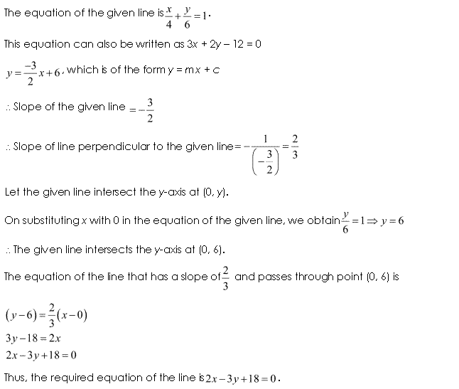 Class 11 Maths NCERT Solutions Chapter 10 Straight Lines Miscellaneous Exercise A7.1