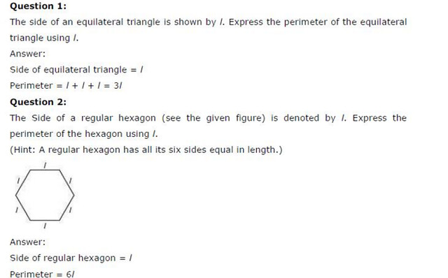 NCERT Solutions For Class 6 Maths Algebra Exercise 11.2 Q1