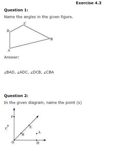NCERT Solutions For Class 6 Maths Basic Geometrical Ideas Exercise 4.3 Q1