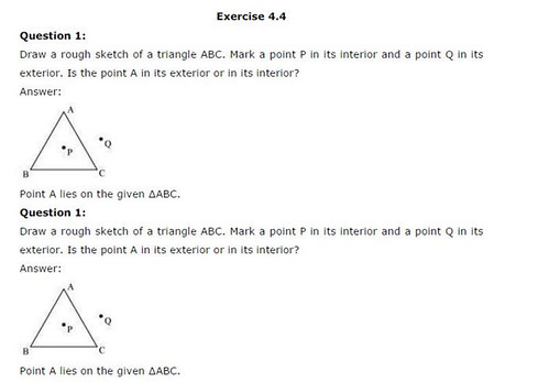 NCERT Solutions For Class 6 Maths Basic Geometrical Ideas Exercise 4.4 1