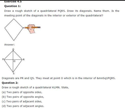 NCERT Solutions For Class 6 Maths Basic Geometrical Ideas Exercise 4.5 Q1