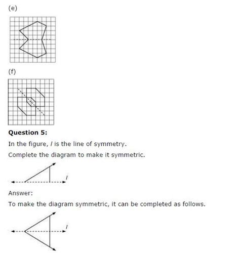 NCERT Solutions For Class 6 Maths Chapter 13 Symmetry Ex 13.1 Q6