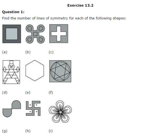 NCERT Solutions For Class 6 Maths Symmetry Exercise 13.2 Q1