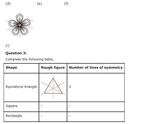 NCERT Solutions For Class 6 Maths Symmetry Exercise 13.2 Q3