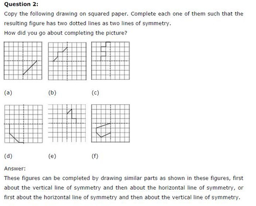 NCERT Solutions For Class 6 Maths Symmetry Exercise 13.3 Q3