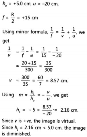 NCERT Solutions for Class 10 Science Chapter 10 Light Reflection and Refraction Page 187 Q14