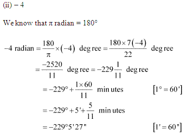 NCERT Solutions for Class 11 Maths Chapter 3 Trigonometric Functions Ex 3.1 Q2.2