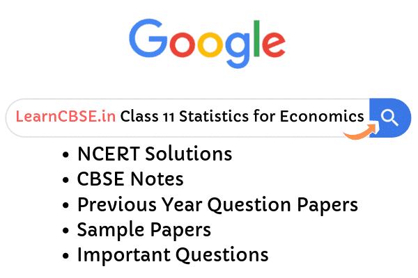 NCERT Solutions for Class 11 Statistics for Economics