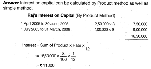 NCERT Solutions for Class 12 Accountancy Chapter 2 Accounting for Partnership Basic Concepts Numerical Problems Q22