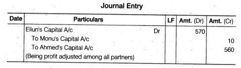 NCERT Solutions for Class 12 Accountancy Chapter 2 Accounting for Partnership Basic Concepts Numerical Problems Q39.2