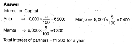 NCERT Solutions for Class 12 Accountancy Chapter 2 Accounting for Partnership Basic Concepts Numerical Problems Q43