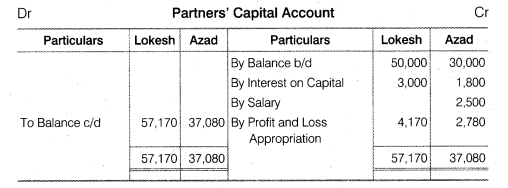 NCERT Solutions for Class 12 Accountancy Chapter 2 Accounting for Partnership Basic Concepts Numerical Problems Q6