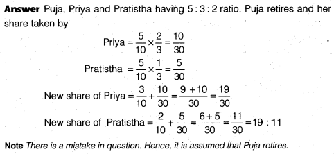 NCERT Solutions for Class 12 Accountancy Chapter 4 Reconstitution of a Partnership Firm – Retirement Death of a Partner Do it Yourself I Q6