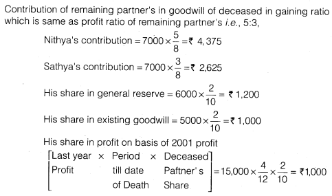 NCERT Solutions for Class 12 Accountancy Chapter 4 Reconstitution of a Partnership Firm – Retirement Death of a Partner Numerical Questions Q14.8