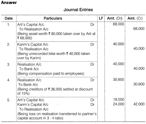 NCERT Solutions for Class 12 Accountancy Chapter 5 Dissolution of Partnership Firm Numerical Questions Q10