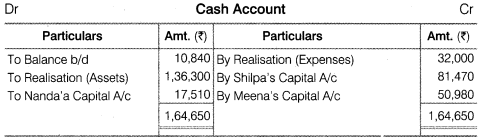 NCERT Solutions for Class 12 Accountancy Chapter 5 Dissolution of Partnership Firm Numerical Questions Q12.3